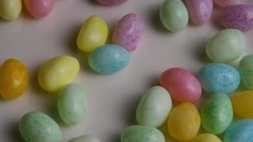 Foto giratoria de coloridos caramelos de Pascua - Pascua 104