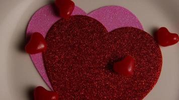 rotação de imagens de arquivo de decorações de dia dos namorados e doces - dia dos namorados 0106