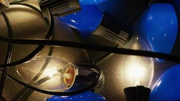 foto cinematográfica rotativa de luzes de natal ornamentais - natal 017
