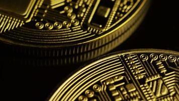 colpo rotante di bitcoin (criptovaluta digitale) - bitcoin 0067 video