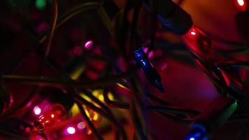 Plano cinematográfico y giratorio de luces navideñas ornamentales - navidad 012