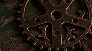 Imágenes de archivo giratorias tomadas de caras de relojes antiguas y desgastadas - caras de relojes 042