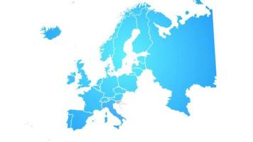 mapa da europa mostrando introdução com novas regiões video