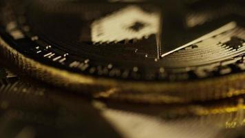 Rotating shot of Bitcoins (digital cryptocurrency) - BITCOIN MIXED 097
