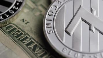 Rotating shot of Bitcoins (digital cryptocurrency) - BITCOIN LITECOIN 613