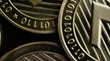 Rotating shot of Bitcoins (digital cryptocurrency) - BITCOIN LITECOIN 310