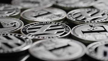 Rotating shot of Bitcoins (digital cryptocurrency) - BITCOIN LITECOIN 527