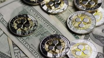 tiro giratório de bitcoins (criptomoeda digital) - ondulação de bitcoin 0236 video