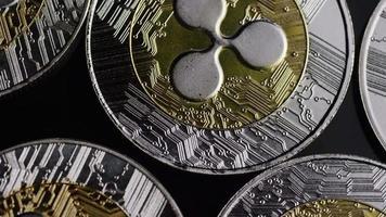 Tir rotatif de bitcoins (crypto-monnaie numérique) - ondulation bitcoin 0086 video