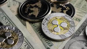 Tir rotatif de bitcoins (crypto-monnaie numérique) - ondulation bitcoin 0306 video