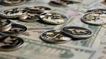 Tir rotatif de bitcoins (crypto-monnaie numérique) - ondulation bitcoin 0312 video