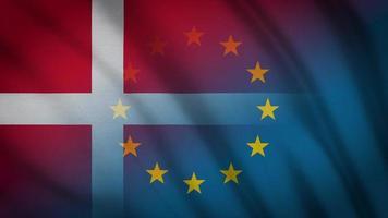 drapeau de l'ue danemark