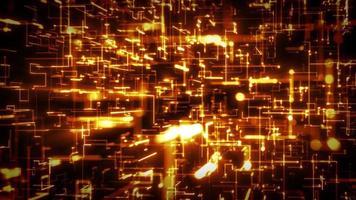 loop de fundo abstrato de alta tecnologia digital video