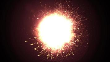 boucle d'explosion d'incendie à ondes de choc video