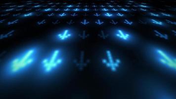 loop de fundo 3D digital de alta tecnologia abstrato video