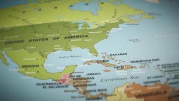Weltkarte Flug über Hintergrund video