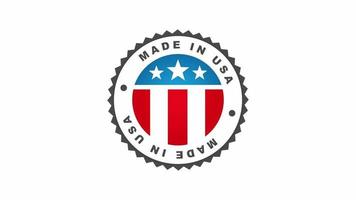 Made in USA Abzeichen Animation