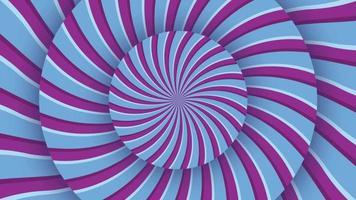 Un bucle espiral abstracto hipnótico giratorio
