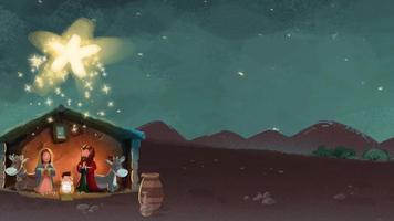 portal belén para saludos navideños video
