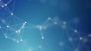 Conexión de línea abstracta fondo netcom