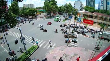Ho chi minh city traffic at Intersection , Vietnam