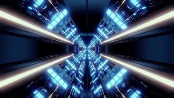 túnel futurista de ficção científica sem fim