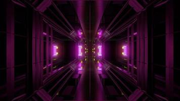 túnel futurista de ficção científica