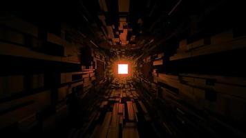túnel espacial scifi preto