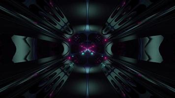 tunnel futuristico in stile alieno fantascientifico