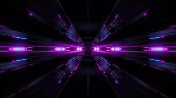 sfondo del tunnel con bagliore blu video