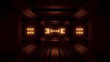 túnel espacial futurista de ciencia ficción brillante video