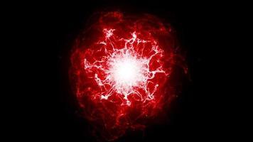 eine leuchtende Plasmakugel platzt vor Energie video