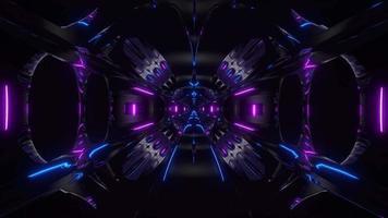 futuristico tunnel spaziale fantascientifico di nave aliena