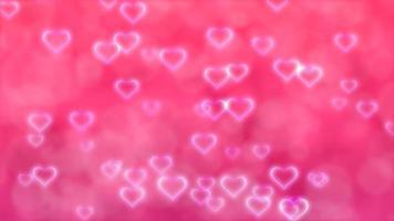corazones rosas voladores