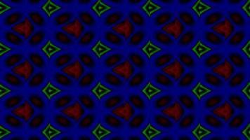 formas caleidoscópicas se fusionan y pulso video