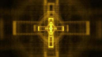 leuchtendes christliches Kreuz video