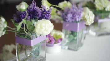 flores de boda y decoración video