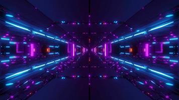 túnel de nave espacial futurista de ficção científica