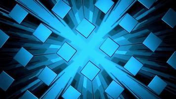 cubes bleus modernes abstraits video