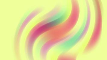 Abstract Pastel Yellow Waves