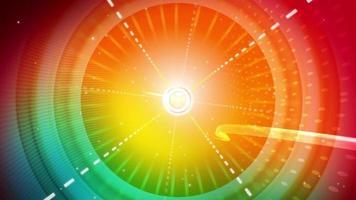 gráfico de círculo de arco iris abstracto