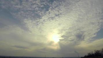 lapso de tiempo ondulado nubes