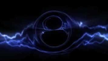 ciclo di sfondo astratto blu energia