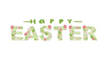 Colorful Happy Easter greeting card animation  video