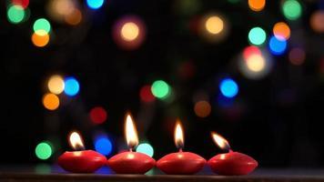 bougies rouges romantiques