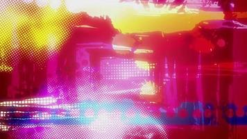 animação de objetos coloridos abstratos video