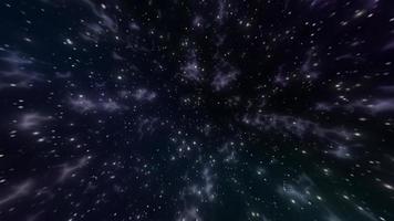 volando a través de estrellas y nebulosas