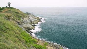 Scenery of Phrom Thep Cape in Andaman sea, Thailand. video
