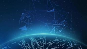 un dibujo digital de las constelaciones sobre el planeta tierra
