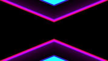 leuchtendes Neonkreuzdesign video